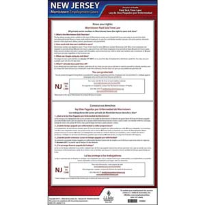 New Jersey / Morristown Paid Sick Leave Poster
