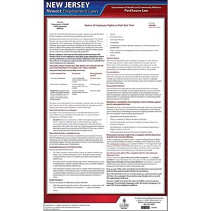 New Jersey / Newark Paid Sick Leave Poster