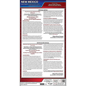 New Mexico / Las Cruces Minimum Wage Poster