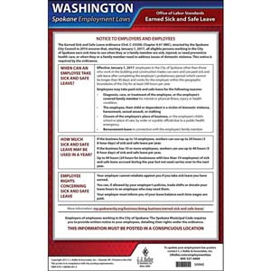 Washington / Spokane Paid Sick Leave Poster