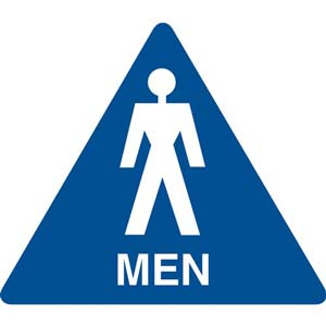 California Title 24 Restroom Sign: Men