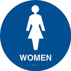 California Title 24 Restroom Sign: Women