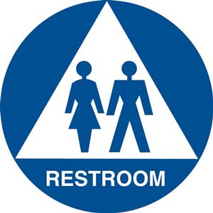 California Title 24 Gender-Neutral Restroom Sign: Restroom