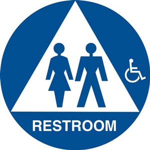 California Title 24 Gender-Neutral Handicap-Accessible Restroom Sign: Restroom