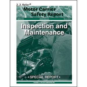 Special Report: Inspection and Maintenance