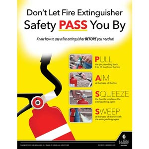 Don't Let Fire Extinguisher Safety Pass You By - Workplace Safety Training Poster