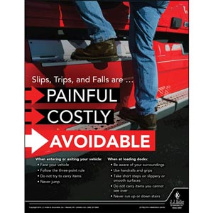 Slips, Trips, and Falls - Transportation Safety Poster