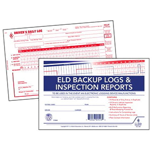 ELD Backup Log Book with Detailed DVIR, 2-Ply, with Recap - Stock