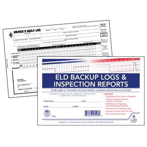 ELD Backup Log Book with Detailed DVIR, 2-Ply, with Recap - Personalized