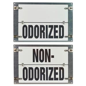 Flip-File Sign, Odorized/Non-Odorized, Medium, 2-Legend