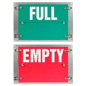Flip-File Sign, Empty/Full, 2-Legend