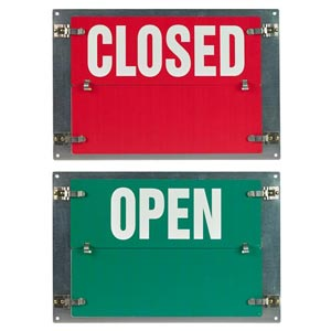 Flip-File Sign, Closed/Open, 2-Legend