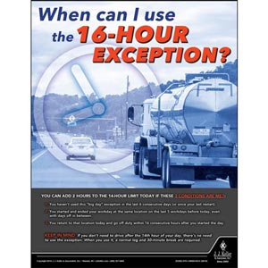 16-Hour Exception - Motor Carrier Safety Poster