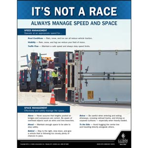 Always Manage Speed and Space - Transportation Safety Poster