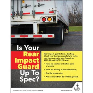 Rear Impact Guard - Motor Carrier Safety Poster