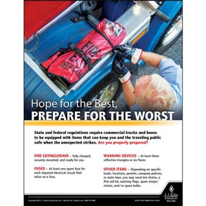 Hope For The Best, Prepare For The Worst - Motor Carrier Safety Poster