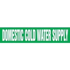 Domestic Cold Water Supply Pipe Marker - ASME/ANSI
