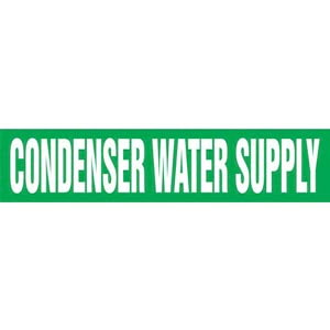 Condenser Water Supply Pipe Marker - ASME/ANSI