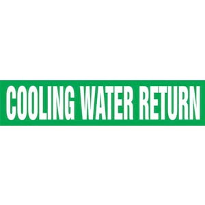 Cooling Water Return Pipe Marker - ASME/ANSI