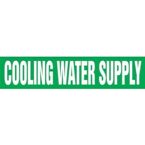 Cooling Water Supply Pipe Marker - ASME/ANSI