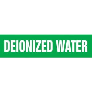 Deionized Water Pipe Marker - ASME/ANSI