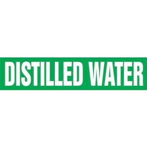 Distilled Water Pipe Marker - ASME/ANSI