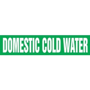 Domestic Cold Water Pipe Marker - ASME/ANSI