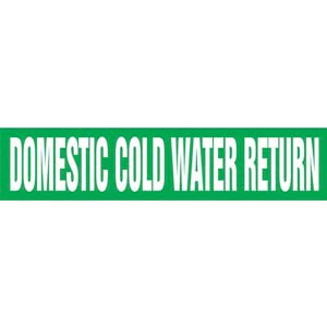 Domestic Cold Water Return Pipe Marker - ASME/ANSI