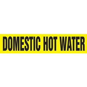 Domestic Hot Water Pipe Marker - ASME/ANSI