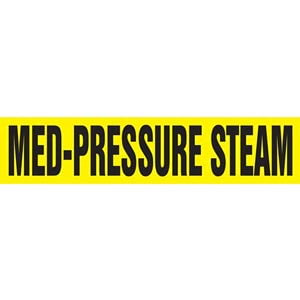 Med-Pressure Steam Pipe Marker - ASME/ANSI