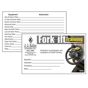 Forklift Training - Wallet Cards