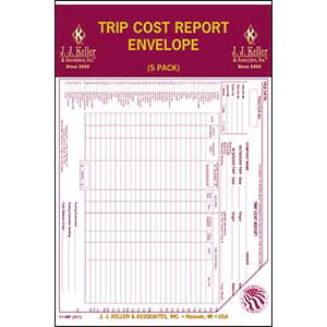 Trip Cost Report Envelope 5-Pack - Retail Packaging
