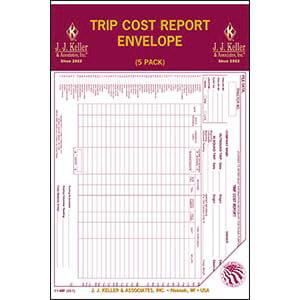 Trip Cost Report Envelope 5-Pack - Retail Packaging
