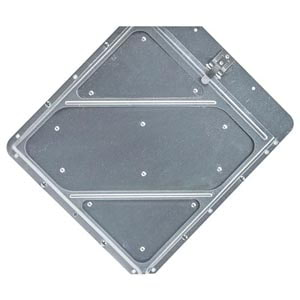 Heavy-Duty Riveted Aluminum Placard Holder