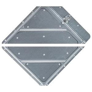 Heavy-Duty Riveted Split Aluminum Placard Holder