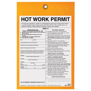 Hot Work Permit Tag: 30-Minute Fire Watch