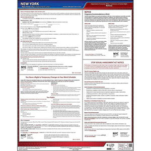 New York City Employment Laws Poster