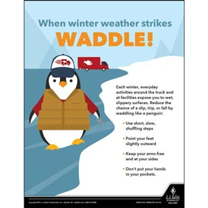 When Winter Weather Strikes Waddle - Transport Safety Risk Poster