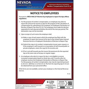 Nevada Tipped Employee Poster