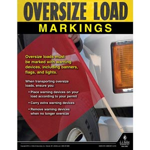Oversize Load Markings - Motor Carrier Safety Poster
