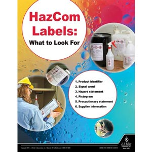 HazCom Labels: What To Look For - Workplace Safety Training Poster
