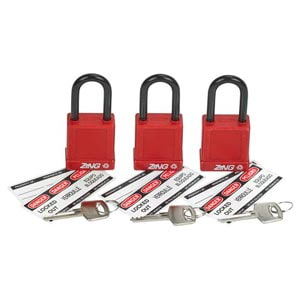 RecycLock™ Keyed Alike 3-pk. Safety Padlocks