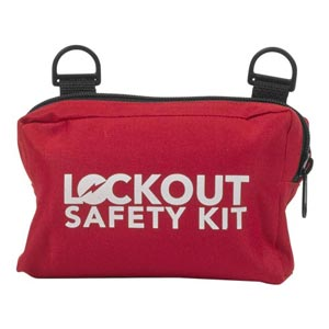 Fabric Small Lockout/Tagout Pouch