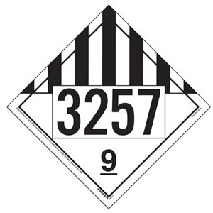 3257 Placard - Class 9 Miscellaneous