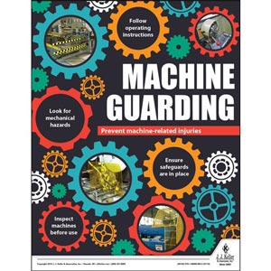 Machine Guarding - Workplace Safety Training Poster