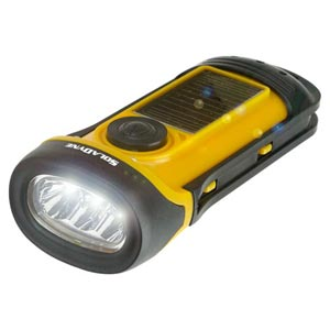 Solar Crank Waterproof LED Flashlight