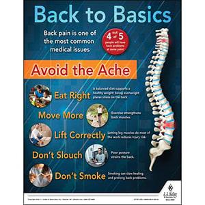 Back to Basics - Back Pain - Health & Wellness Awareness Poster
