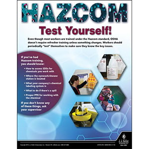 Hazcom Test Yourself - Workplace Safety Training Poster