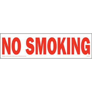 No Smoking Truck Sign