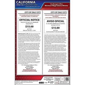 California / Daly City Minimum Wage Poster